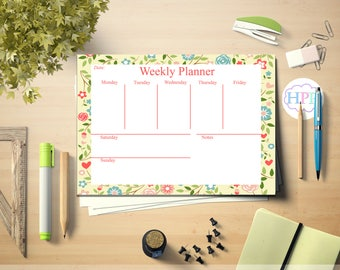 Weekly planner, Printable weekly planner, Scrapbooking, Weekly organiser, weekly schedule, Printable planner, Instant Download, Digital file