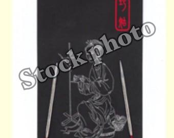 "ChiaoGoo, 9"",  US size 1, circular knitting needle, sock knitting, stainless steel, knitting needles,"