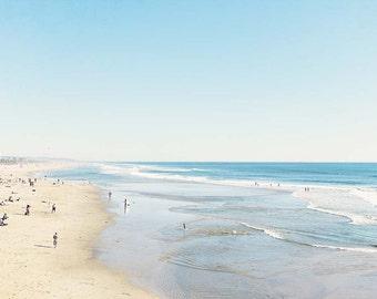 Clearance Sale-8x10 Print, beach photography, Huntington Beach, 8x10 wall art, Ready To Ship