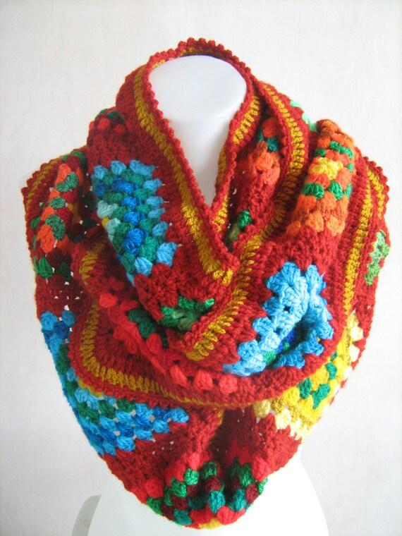 20 % SALE die verschiedenen roten Oma Quadratischer Schal