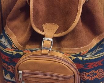 Leather handmade backpack