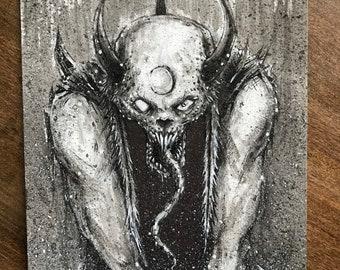 Horned demon- original art