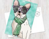 Cute hipster French Bulld...