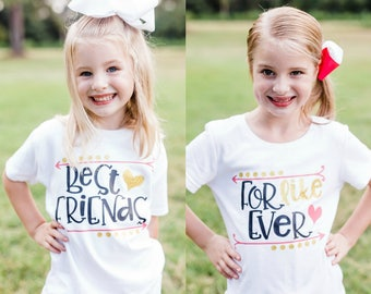 Best Friends Forever Shirts - Besties Shirt - Best Friend Shirt - Best Friend Gift - BFF Shirt - Sisters Shirts - Twin Sister Shirts