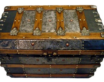 Antique Coffee Table Trunk C 1870