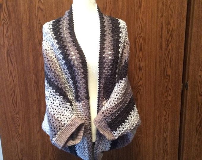 Blanket Sweater, Crochet Sweater, Sweater Blanket, Sweater, Cardigan, Cocoon Sweater, Cocoon