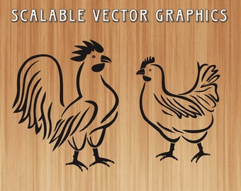 chicken svg cut file, rooster silhouette, chicken silhouette, hen svg download, rooster ai file, farm animals svg, chicken vector art