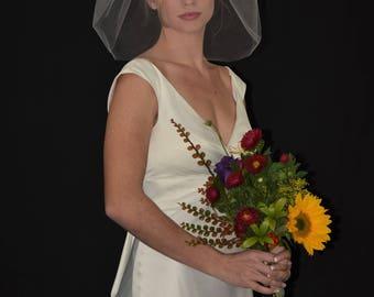 Blusher Veil | Bubble Veil | Puffy Veil | Short Veil | Bouffant Veil | Small Veil |  Bridal Veil | Wedding veil | Veil Wedding | Veil