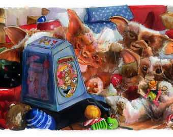 Gremlins - The New Ones Aren't Like Gizmo  Poster Print