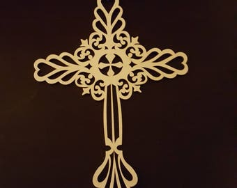 Fancy Cross on Wood