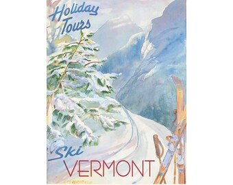 Vermont Holiday Tours Travel Poster