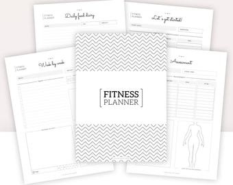 Fitness Journal personal Filofax personal insert Fitness