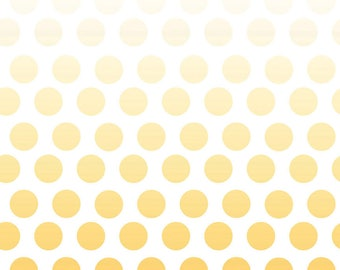 Cotton Fabric Polka Dots Ombre Fabric - Riley Blake Designs Ombre Fabric - Polka Dot Fabric - Cotton Fabric Quilt Fabric - Yellow Fabric