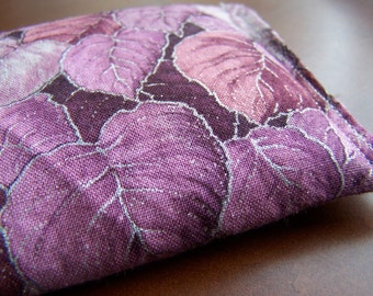Purple Leaves *Cold* Comfort Pack with Flaxseed, Your choice of Lavender, Chamomile, Spearmint Leaves, or Lemon Balm