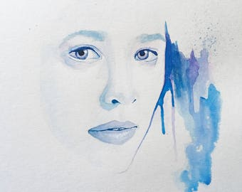 Watercolor Portrait - Abstract Woman's Face