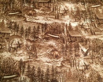 Cabin Living Cotton Fabric by the Yard