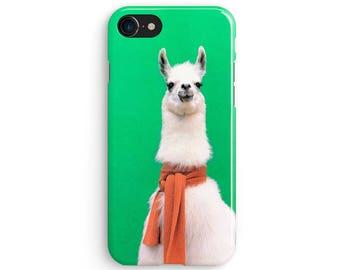 Llama Scarf Green iPhone X case | iPhone 8 case | Samsung Galaxy S8 case | iPhone 6 | iPhone 7 plus | iPhone SE | 1M200