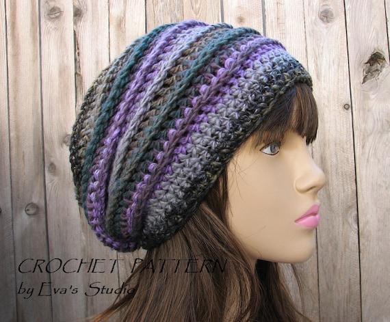Crochet Pattern Slouchy Hat Crochet Pattern Pdfeasy
