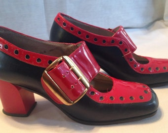 Cover Girl Leather Mod 1970's Shoes