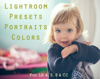 Pack of 20 Lightroom Presets Portraits Light Color