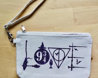Love Wristlet Bag Coin Purse Harry Potter Fan