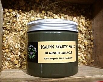 REPAIR 10MIN MIRACLE healing mask in powder,gold standard,black heads,shadows,pores closing,for normal sensitive skin