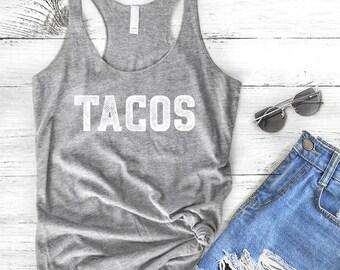 Tacos Women's Tank Top, Workout Tank, Taco Tank Top, Gym Tank Top, Lifting Tank, Funny Shirt, Work Out, Feed Me Tacos, Tacos Shirt, Gym Tank