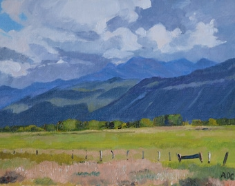 Rocky Mountain landscape oil painting western art american impressionism southwest
