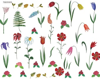 My Garden ~ 70035 ~ Glass Decal - Ceramic Decal - Fusible Glass Decals - Waterslide Transfer