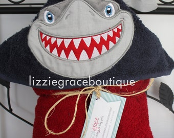 Ole Miss Hooded Towel, Kids Hooded Towel, Shark Hooded Towel, Fins Up Hooded Towel, Ole Miss Rebels, Fins Up