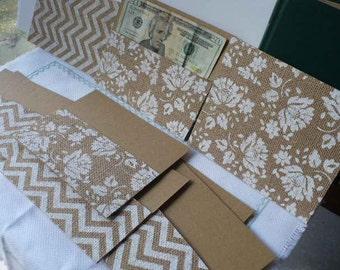 Burlap Cash Envelope, Cash Envelope System, Wedding Cash Envelope, Money Envelopes, Graduation Gift Card Holder, Burlap