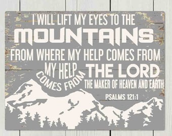 I will lift my eyes to the Mountains    SVG, PNG, JPEG