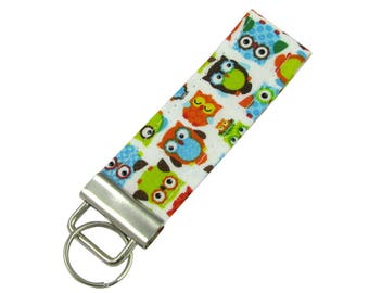 Personalized Key Chain / Key Fob Owls with Optional Initials