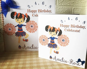 Cheerleader birthday card, cheerleading, cheer birthday card, cheer, cheer birthday party, cheerleader, cheerleaders, cheer camp
