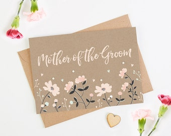 Mother of the Groom Floral Card