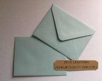 Soft Baby Blue Premium Quality Envelopes 100gsm Greeting Cards/Craft/Wedding - Qty's 10 - 1000 & in 6 Different Sizes