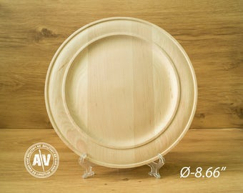 DIY Wooden plate Unpainted segmented plate Turned wooden plate Blank wooden plate Woodturning Natural wood plate decoupage Unfinished wood