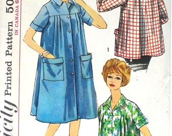 1960's Smock Top or Dress Bust 32 Simplicity S170Vintage Sewing Pattern Size 12