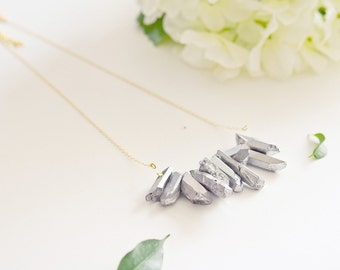 "Necklace ""Titanium"" gold plating and titanium"