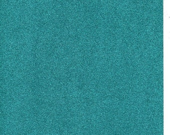 Teal Turquoise Glitter Card A4 soft touch low shed 1 sheet