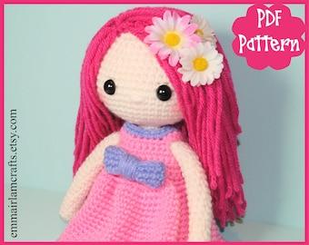 Doll Crochet Pattern, Pinky, Amigurumi Doll, Crochet Doll Pattern, Doll Tutorial, Amigurumi Pattern, Doll Plush, Cute Doll, Doll Making,