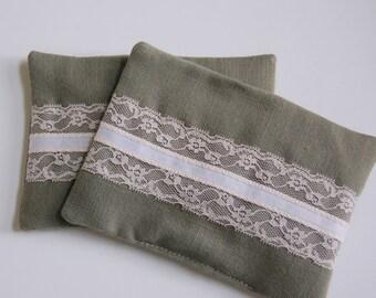 Lytham Linen Organic Lavender Sachets / fragrance sachets / drawer sachet / dryer sachet laundry / vintage lace / cottage shabby chic sachet