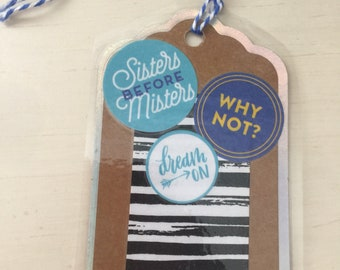 Backpack Tag/ gift tag/ bookmark