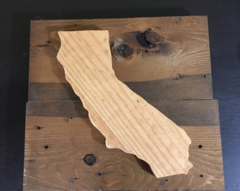 "Wood Sign  Insudrial Style  ""State/ Provence/Country"""