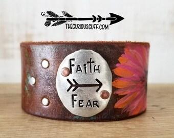 Faith over Fear Pink Daisy