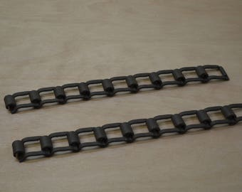 Square Link Farm Chain, Industrial Steampunk, Metal Art Supply, #444