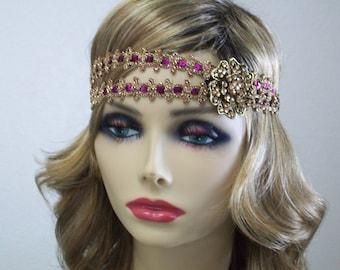 Great Gatsby Headband, 1920s Flapper Dress, 1920s Headpiece, Roaring 20s, Flapper Headband, Sequin Headband, 1920s Hair Accessory