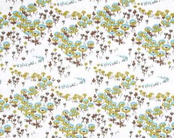 Flower Fields in Timber  JD34 - Joel Dewberry - Modern Meadow - Free Spirit Fabric  - By the Yard