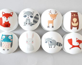 Beau Woodland Animal Drawer Knobs, Drawer Pulls, Dresser Pulls, Childrenu0027s Room,  Nursery Decor, Nursery, Forest Animal Knobs, Knobs, Kids Knobs.