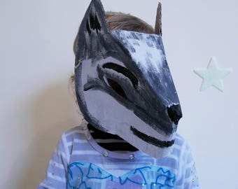 Painted or personalized Wolf mask